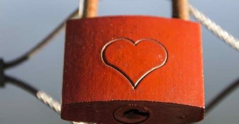 fence lock love padlock 38866