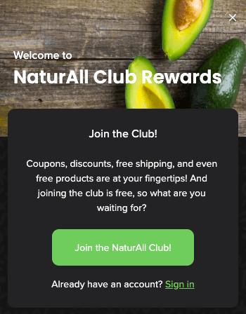 NaturAll Club program card text