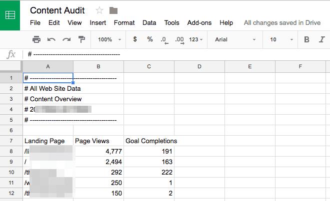 Content Audit doc