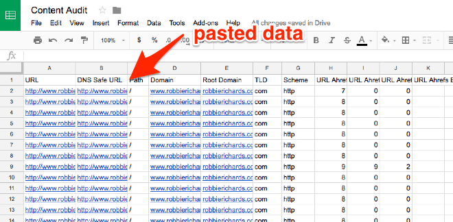 Content Audit document