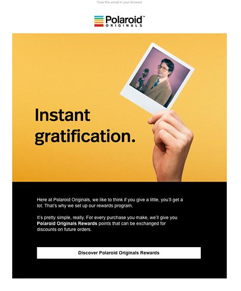 Polaroid Originals FOMO email