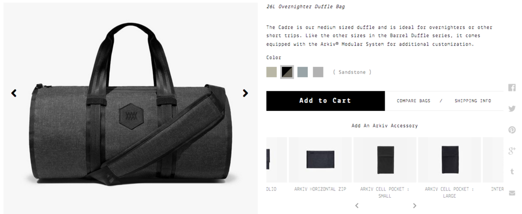 The Cadre 26 Duffle by Mission Workshop