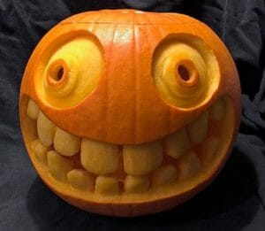 Big pumpkin with scary smile