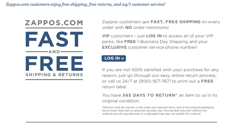 retention marketing zappos