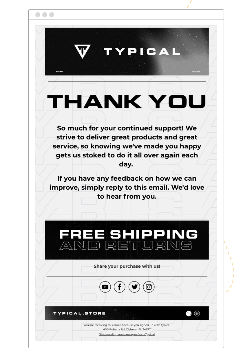 Hive.co_Email_Marketing_CRM_New_Customer_Thank_You_Typical_Template