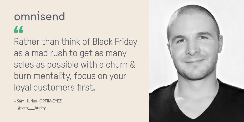 Sam Hurley black friday prep tips