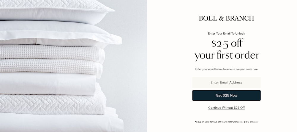 Boll & Branch - $25 off your first order