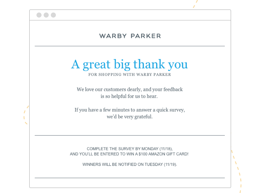Hive.co_Email_Marketing_CRM_VIP_Email_Warby_Parker_Template