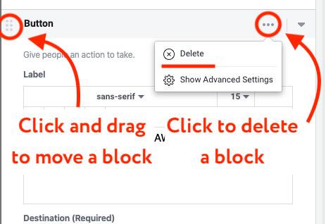delete a block