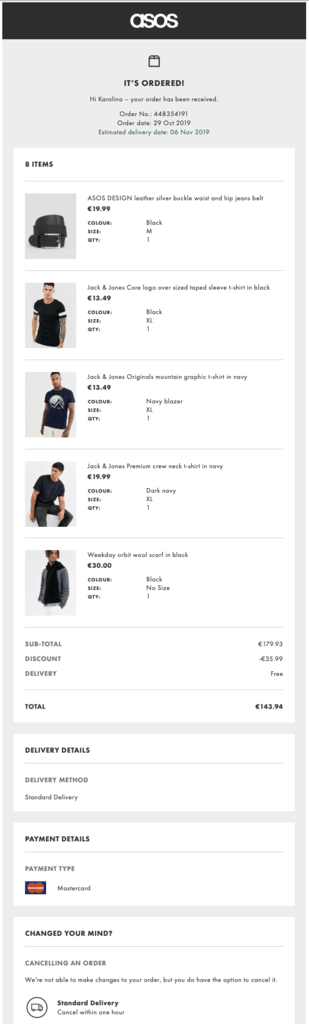 asos-order-confirmation-thank-you-email