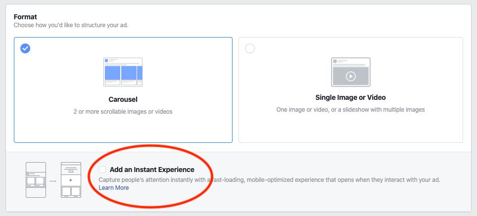 create instant ad 1
