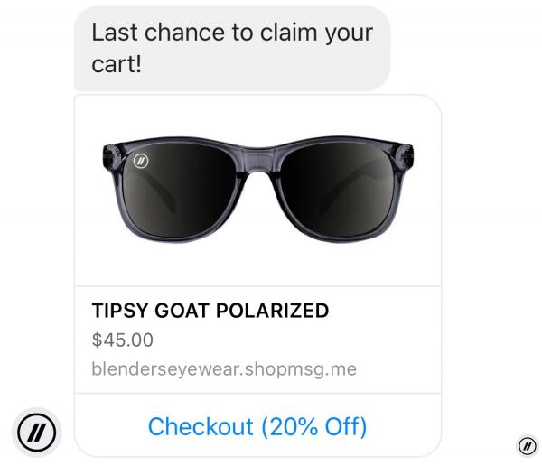 last chance claim abandoned cart notification - black friday marketing ideas