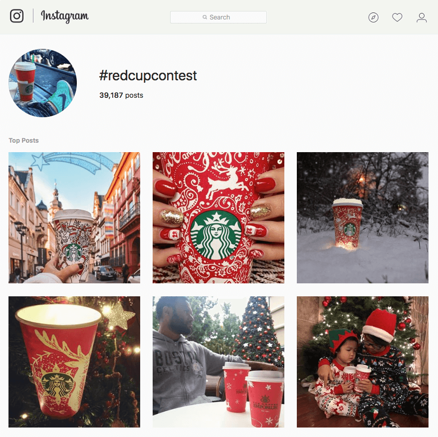 Best Brand Communities - Starbucks #redcup instagram