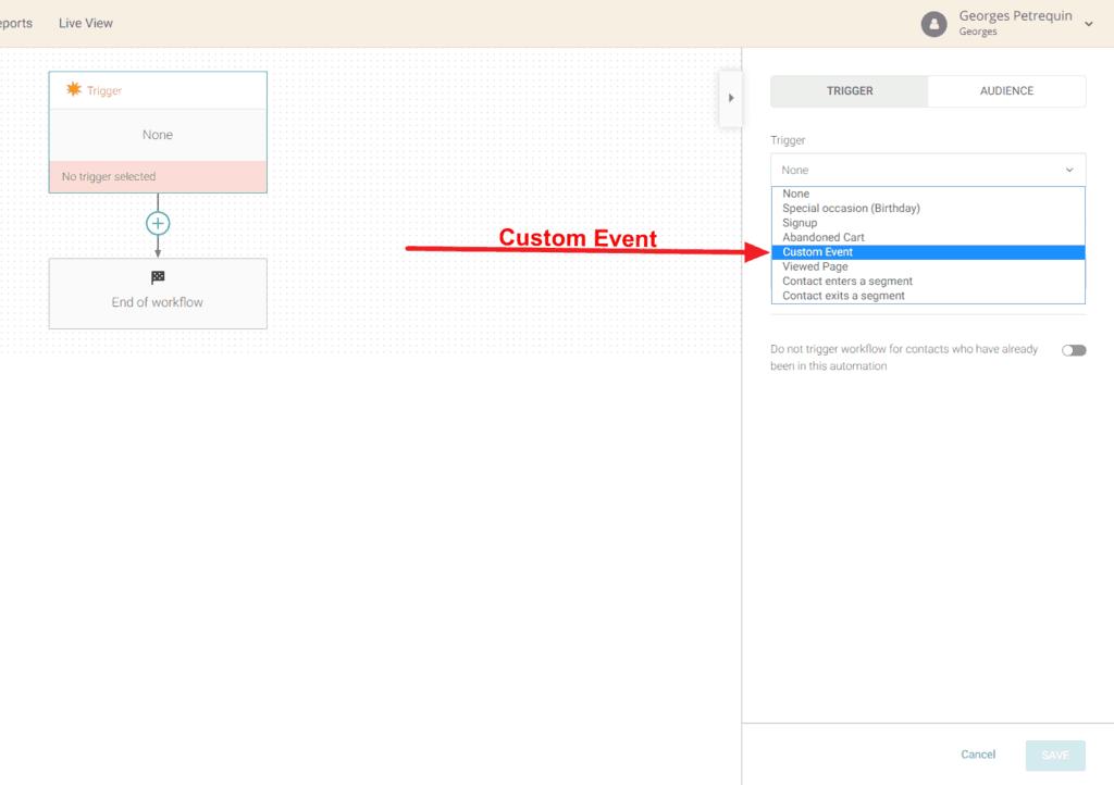 Custom Event Trigger Emails