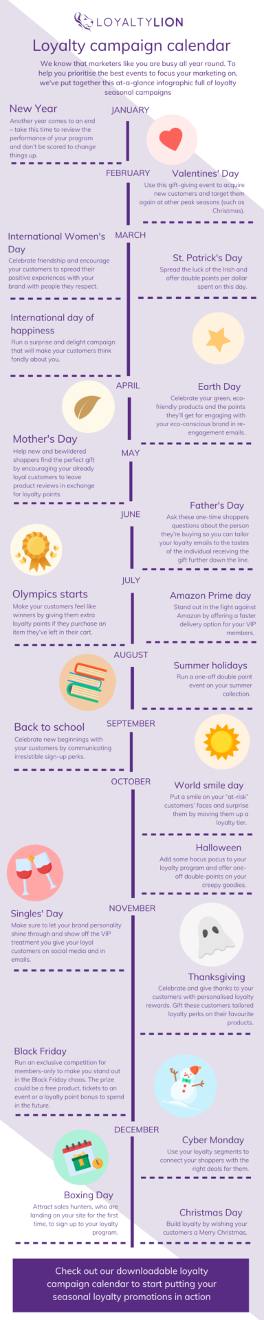 Infographic 2020 Marketing Calendar