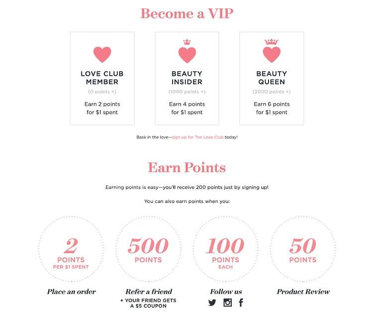 One Love Organics Loyalty Program 2020 Rewards