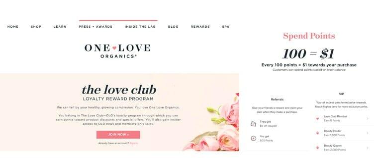 One Love Organics Loyalty Program 2020