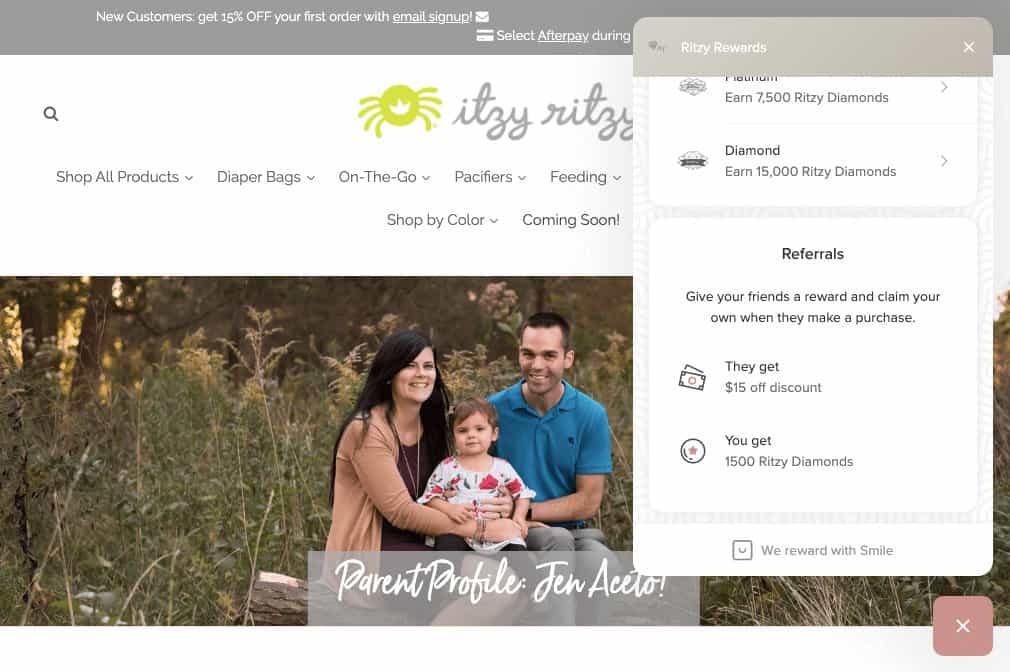 best brand communities - itzy ritzy referrals