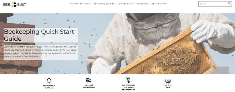 Bee Built website 2020