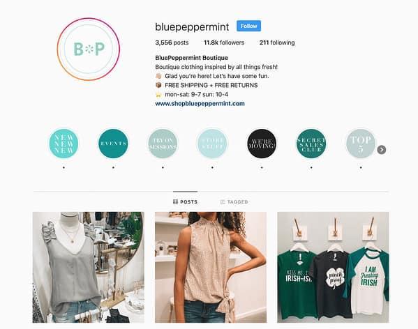 BluePeppermint Instagram 2020