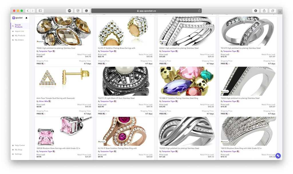 Dropshipping Jewelry Products