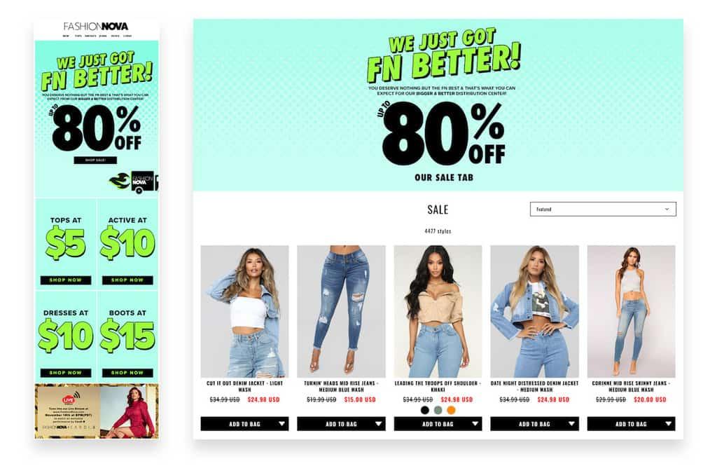 Fashion Nova flash sale