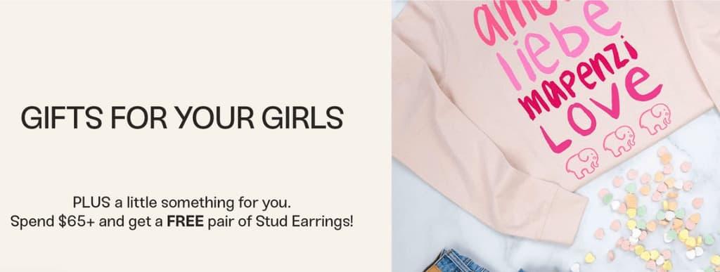 Ivory Ella gift for free stud earrings