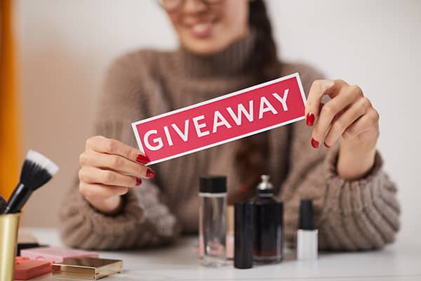 Influencers can be used for product giveaways