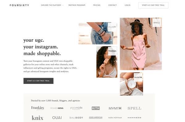 FourSixty homepage 2020