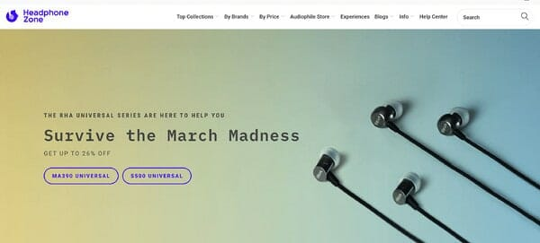 Headphone zone homepage 2020