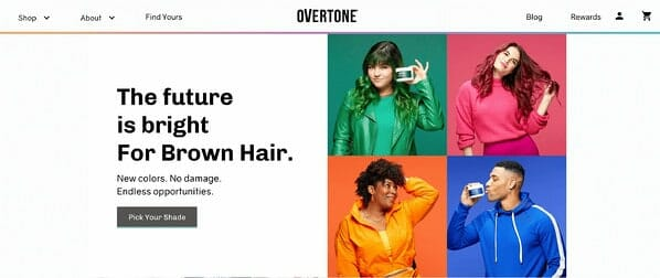 Overtone homepage 2020