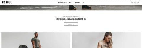 Homepage module COVID-19 Messaging NOBULL