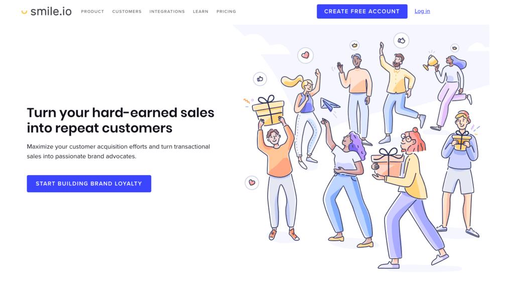 Smile homepage 2020