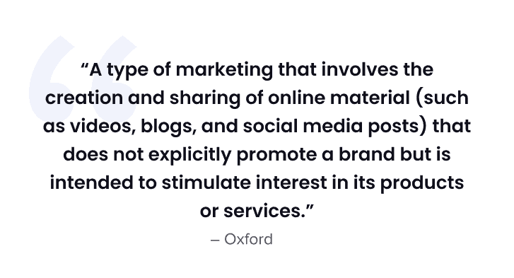 content marketing for small businesses - quote 1