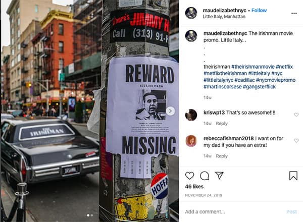 influencers and experiential marketing netflix and the irishman