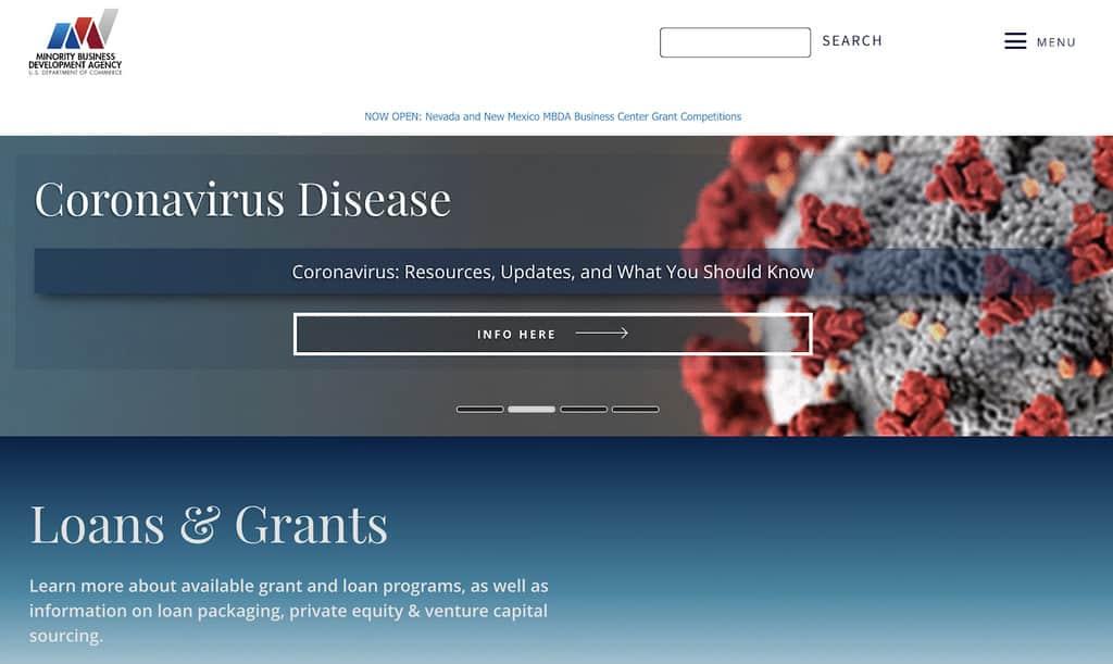 Minority Business Development Agency Website