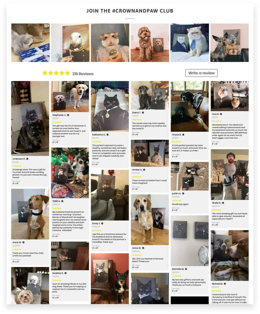 Crown & Paw Ecommerce Pet Reviews and Social Proof