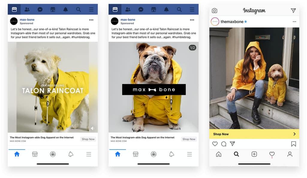 Max Bone Dog Rain Coat Ads