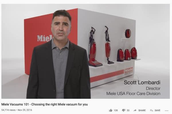 Miele Vacuum Screen capture