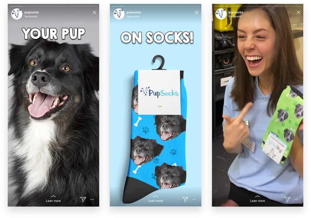 Pupsocks Instagram Stories Ads