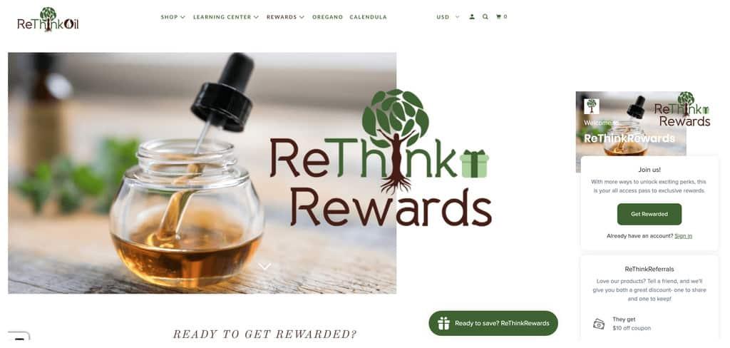 ReThink Rewards website