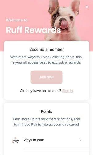 Ruff Rewards Smile Launcher