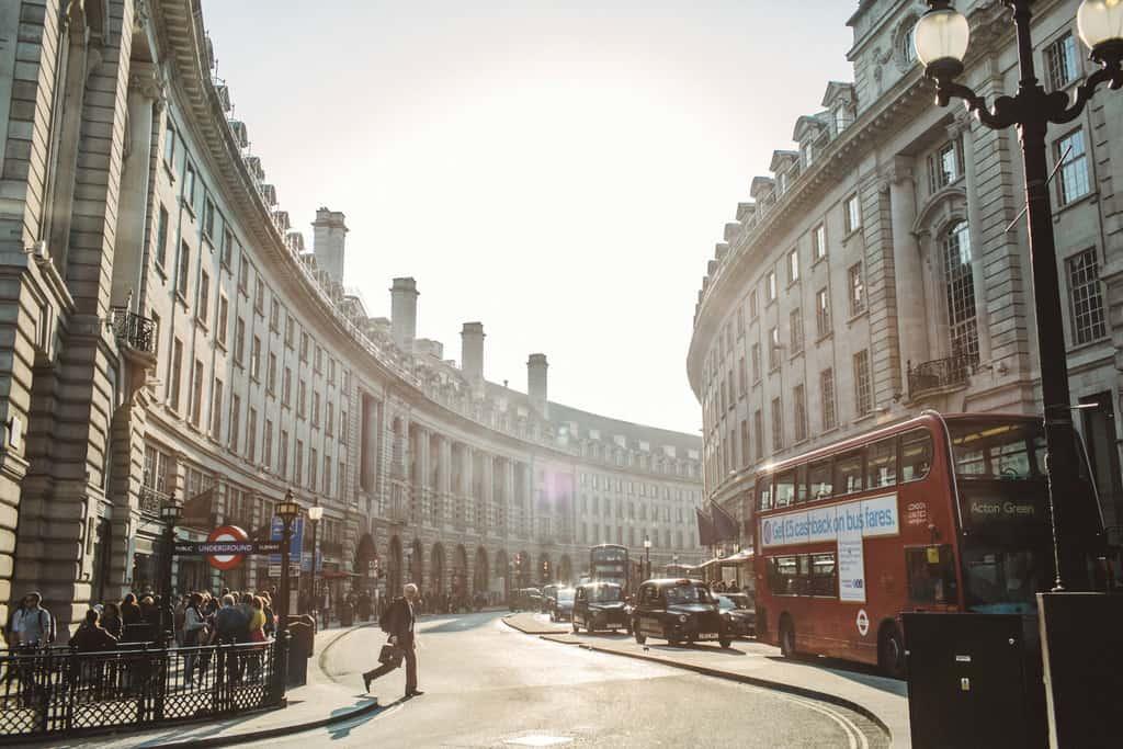 London's Regent St., one of the world's poshest shopping streets