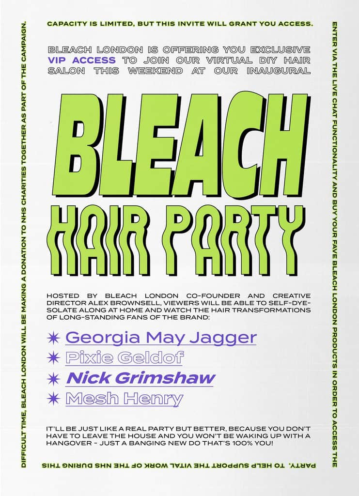 Bleach London's Hair Party roused a big crowd online
