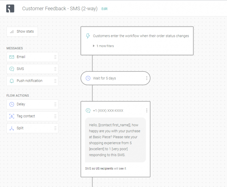 two-way SMS — customer feedback