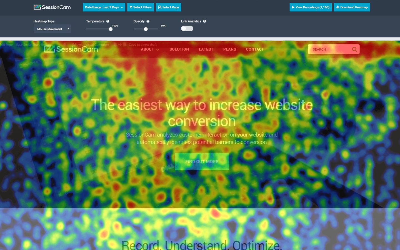 Poor homepage design example