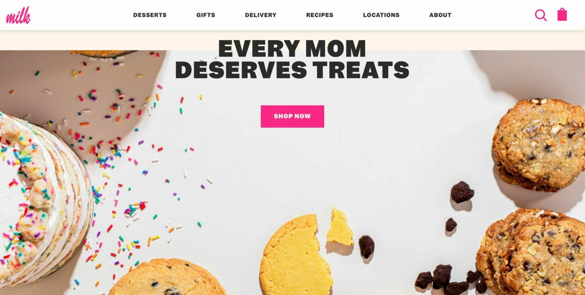 Milk Bar Store homepage 3
