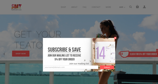 Skinnyme email opt-in