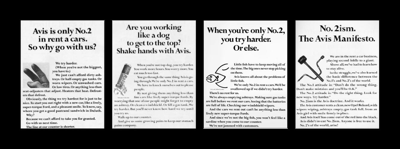 Avis advertisements generate interest with headlines