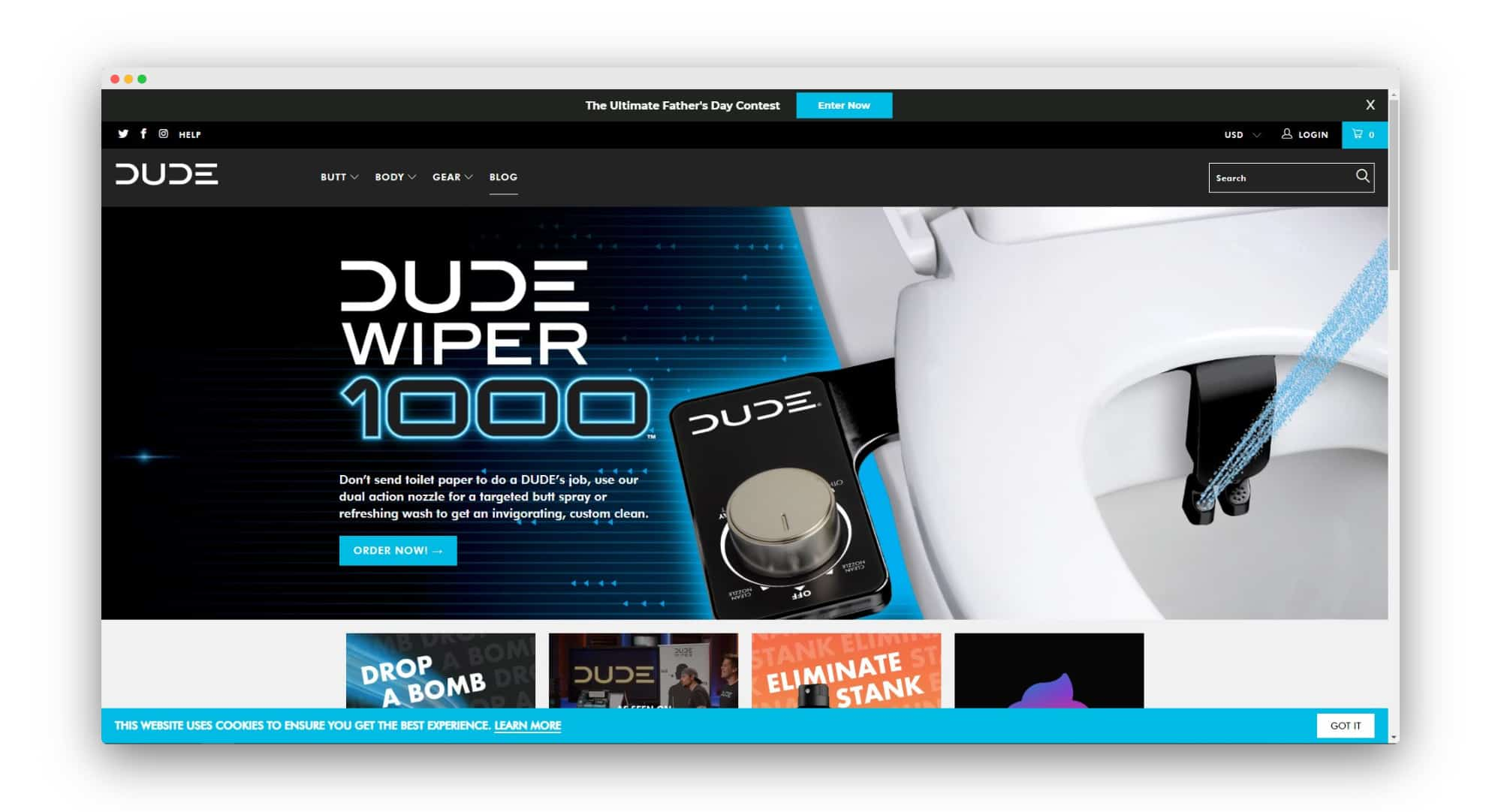DUDE Wipes DTC Brands